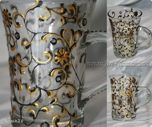 Чайная чашка. Роспись стекла. фото 1