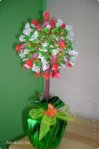 Дерево из конфеток