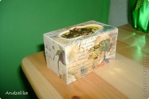 Вид спереди (шкатулочка обклеена рисовой бумагой) фото 1