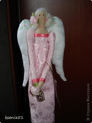 """Здравствуйте дорогие мои!!! Я вернулась домой! Как я долго не была здесь. Вот начала с """"долгов"""" Еще в апреле обещала сшить двух Тильдочек и вот они перед вами на ваш суд.  Первая - винтажный ангел Розалия) фото 2"""
