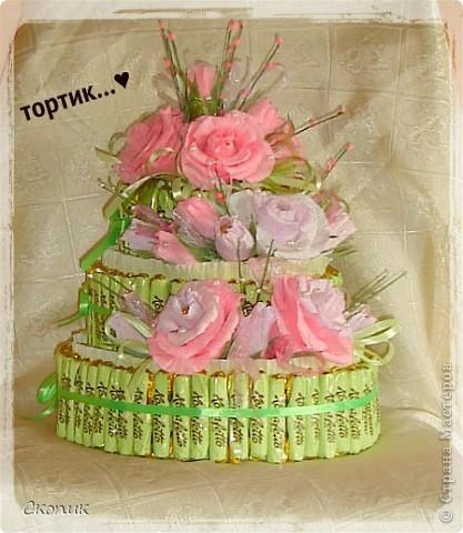 Это мой первый торт и первые розы. Вид спереди. фото 2