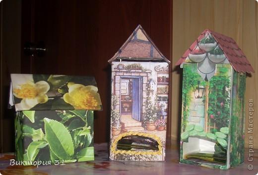 А это я решила попробовать изготовить чайные домики, а МК взяла здесь http://stranamasterov.ru/node/105920?c=favorite  фото 1