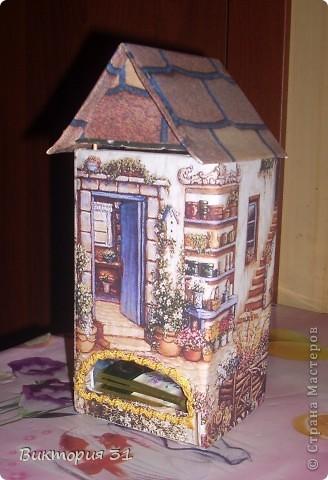 А это я решила попробовать изготовить чайные домики, а МК взяла здесь http://stranamasterov.ru/node/105920?c=favorite  фото 2