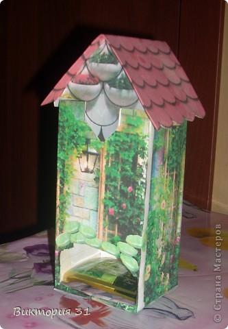 А это я решила попробовать изготовить чайные домики, а МК взяла здесь http://stranamasterov.ru/node/105920?c=favorite  фото 3