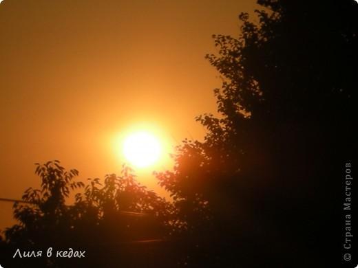 Вот такие закаты бывают в моём городе в ясную погоду... фото 1