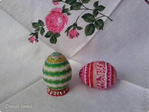 Поделка изделие Пасха Бисероплетение Пасхальные яйца Бисер.