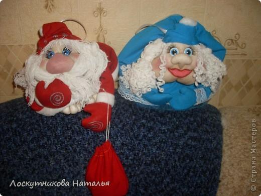 Делала на заказ в подарок Дедушку Мороза и Снегурку)))) фото 1
