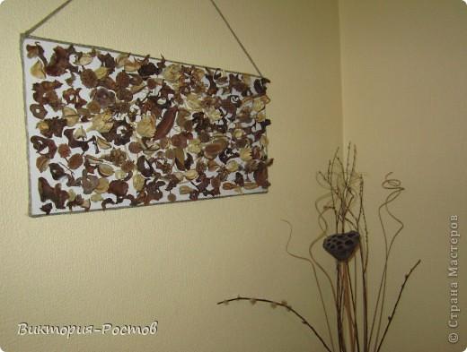 панно из сухоцвета фото 2
