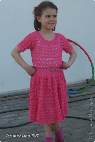 платьице из микрофибры, отделано кружевом. фото 3