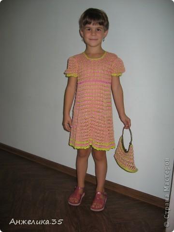 платьице из микрофибры, отделано кружевом. фото 2