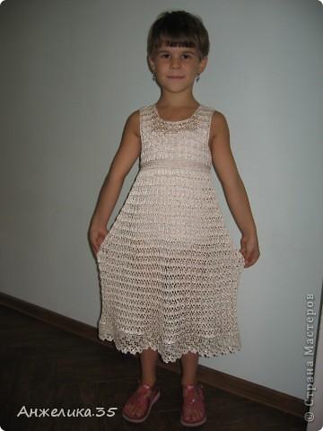платьице из микрофибры, отделано кружевом. фото 1