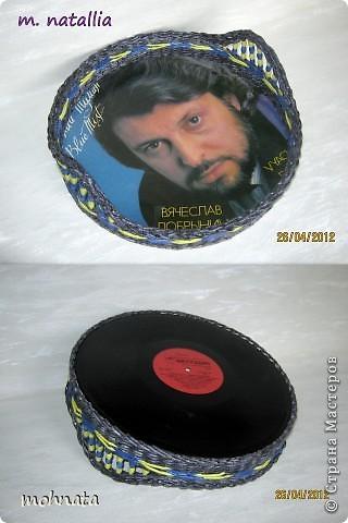 Всем привет!!! Это продолжение моих подносиков на пластинках, а начало тут http://stranamasterov.ru/node/336914.  Надеюсь новая серия вам понравится! фото 6