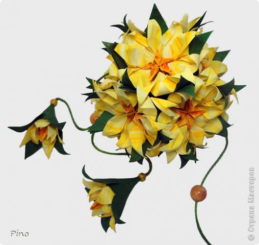 Кусудама Оригами Бумажный сад