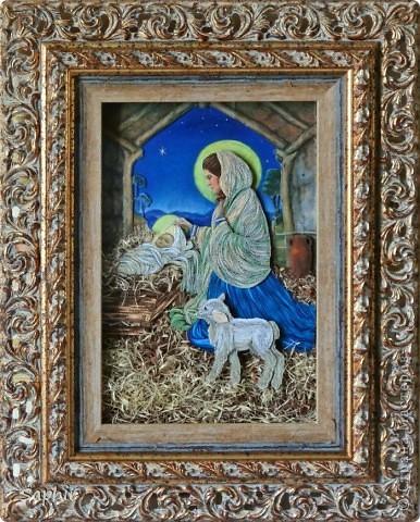 Картина создана по иллюстрации Ruth Sanderson. Хотела придержать её до Рождества, но не удержалась.  фото 12