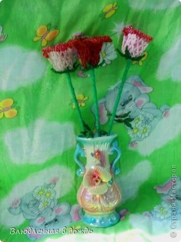Эти розочки, были сделаны 7 лет назад и стали первым опытом, в изготовлениии цветов: фото 3