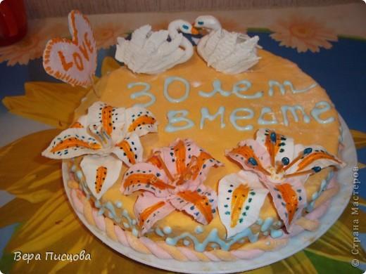 Сметанно-желейный торт. фото 4