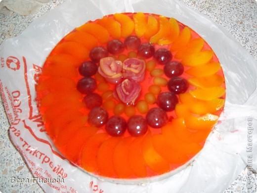 Сметанно-желейный торт. фото 1