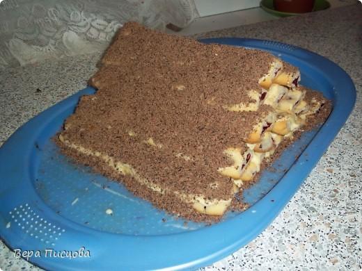 Сметанно-желейный торт. фото 3