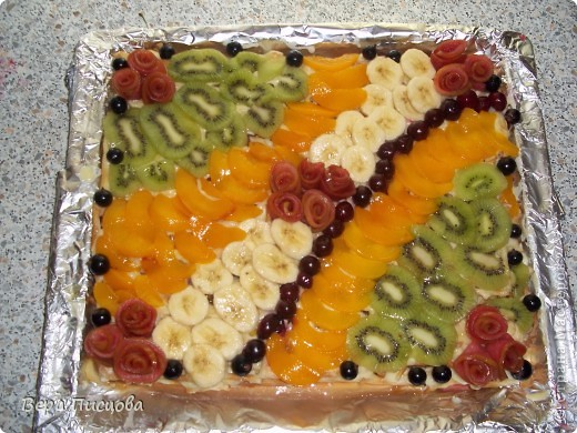 Сметанно-желейный торт. фото 11