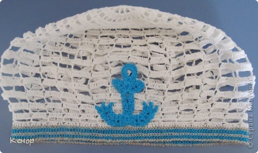 """Добрый день! Моя крестница скоро уезжает на море отдыхать, вот и решила связать ей беретик. Спасибо огромное Ирине Качуковой за подробнейший МК  по вязанию берета""""лесенка"""". А так же спасибо plushiky за идею. фото 1"""