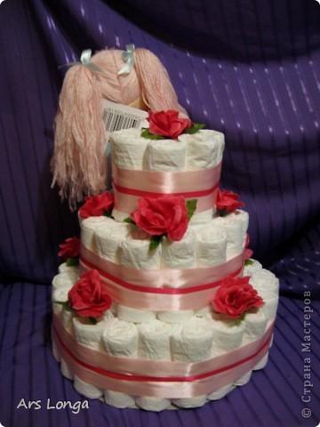 У меня уже был торт с такой куколкой http://stranamasterov.ru/node/259004, заказчице она понравилась и было высказано пожелание использовать для нового тортика такую же :) фото 2