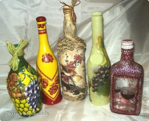 Вот такие разные бутылочки у меня получились. фото 1