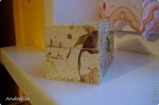 Вид спереди (шкатулочка обклеена рисовой бумагой) фото 5