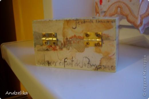 Вид спереди (шкатулочка обклеена рисовой бумагой) фото 2