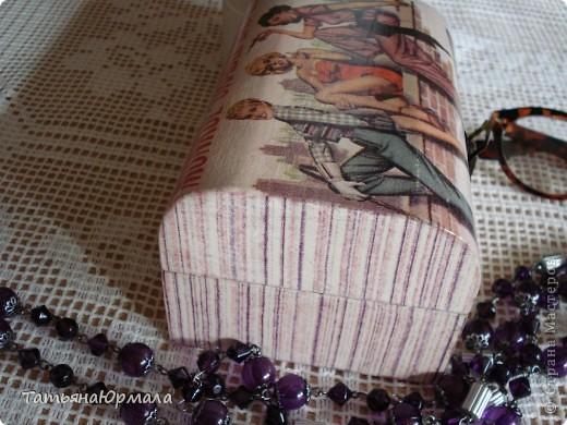 Деревянная шкатулка, салфетки 2 видов, внутри бархат фото 3