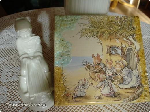 Деревянная шкатулка, салфетки 2 видов, внутри бархат фото 7