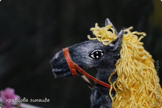 Добрый  день , всем  мастерицам,  вот  и  у  меня  появилась  лошадка ( этими  животными  можно  любоваться  безконца ) у  ИРОЧКИ  - феи  их  много,  а  у  меня  одна,  получилась  по - моему  неплохо. фото 1