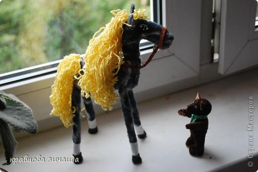 Добрый  день , всем  мастерицам,  вот  и  у  меня  появилась  лошадка ( этими  животными  можно  любоваться  безконца ) у  ИРОЧКИ  - феи  их  много,  а  у  меня  одна,  получилась  по - моему  неплохо. фото 3