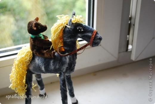 Добрый  день , всем  мастерицам,  вот  и  у  меня  появилась  лошадка ( этими  животными  можно  любоваться  безконца ) у  ИРОЧКИ  - феи  их  много,  а  у  меня  одна,  получилась  по - моему  неплохо. фото 4