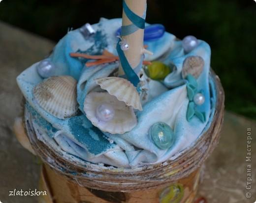 """Добрый день, дорогие жители СМ! Сегодня я к вам с новым свадебным набором """"В синем море, в белой пене..."""" Летом, естественно, очень хочется моря, прохлады и шума волн. Именно морская волна вдохновила меня на создание набора в морском стиле. фото 21"""