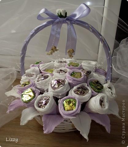Свадебный букет из конфет фото 1
