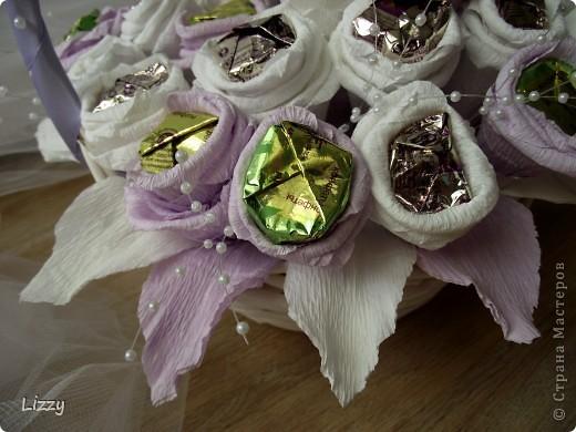 Свадебный букет из конфет фото 2