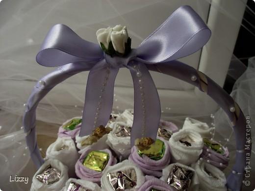 Свадебный букет из конфет фото 3