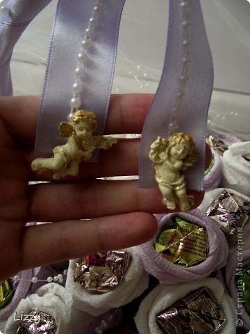 Свадебный букет из конфет фото 4