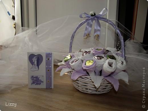 Свадебный букет из конфет фото 5