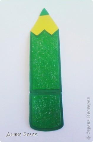 Такие у меня получились закладки в виде карандашей по МК ver. фото 4