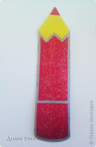 Такие у меня получились закладки в виде карандашей по МК ver. фото 2