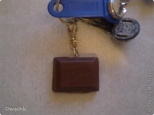 Колечко в виде кусочка шоколадки Milka фото 4