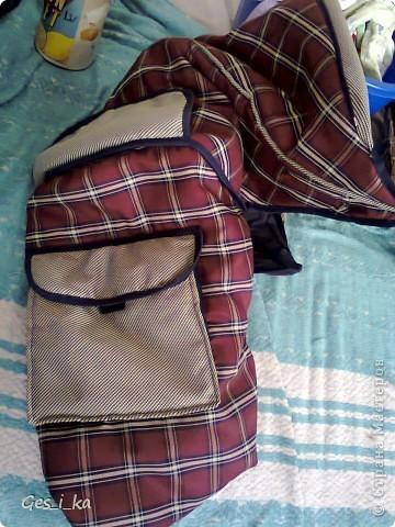 из той же коляски ( http://stranamasterov.ru/node/392914)сшита сумка для переноса собачат.  фото 7