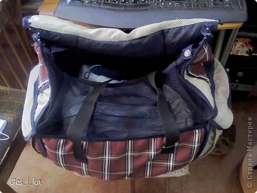 из той же коляски ( http://stranamasterov.ru/node/392914)сшита сумка для переноса собачат.  фото 3