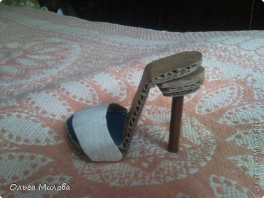 Сегодня я решила смастерить туфельку для колечка... фото 8