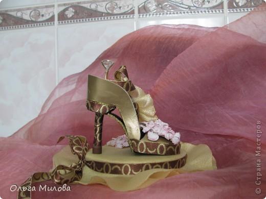 Сегодня я решила смастерить туфельку для колечка... фото 2