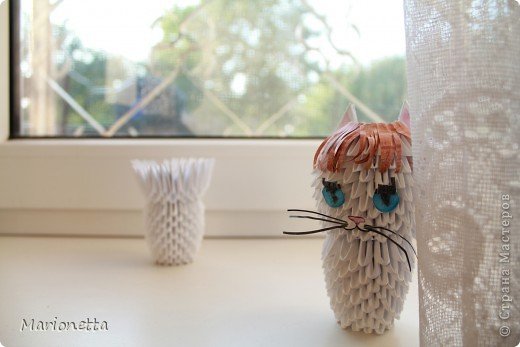 Кошка. Модульное оригами фото 3