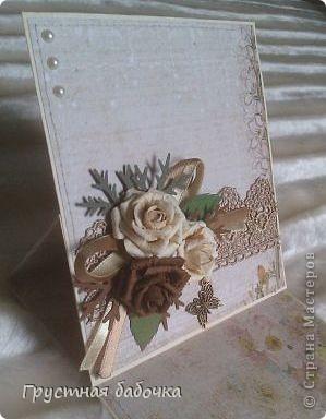 Привет, дорогие Мастерицы! Через несколько дней у моей свекрови юбилей. сделала две открыточки на выбор.  фото 3