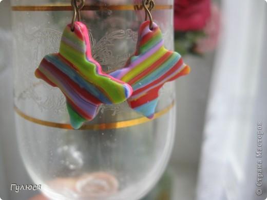 Радужные серьги фото 2