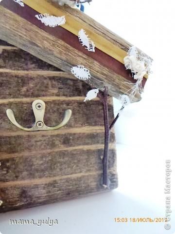 """приехала """"на деревню к дедушке""""смотрю -  забор старый снесли, распилили на дрова, в кучу сложили, сжечь хотят - ужас!!! а досочки такие красивые))) загляденье)))  захотелось что-то из них смастерить...слепила из того, что было под руками... фото 5"""